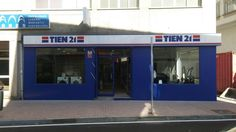 Tienda Tien 21 en Cangas... Rótulo luminoso y fachada en aluminio composite. Un trabajo bien hecho
