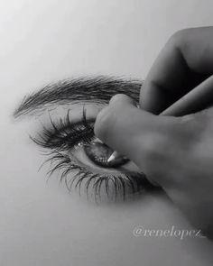Amazing Eye Art John Dick Viral Best Great Eye Drawing By Rene Lopezn Pencil Art Drawings, Art Drawings Sketches, Realistic Drawings, Eye Drawings, Amazing Drawings, Eye Drawing Tutorials, Drawing Techniques, Art Tutorials, Ipad Kunst