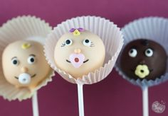 Adorable  babies cake pops