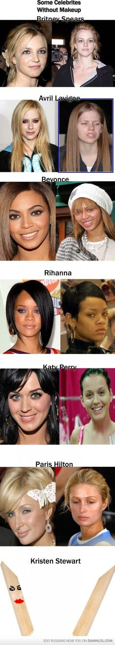 Here's your Favourite Celebrities With and WITHOUT Make-up