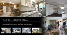 Mobile and Modular. Homes in South Glen. Modular Homes, Real Estate, Storage, Furniture, Home Decor, Purse Storage, Decoration Home, Room Decor, Real Estates