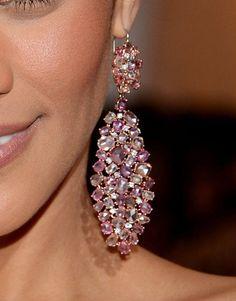 """Schiaparelli pink"" is always a good choice. Props to anyone wearing #Prada in #Schiaparelli pink. {Paula Pattons fab pink rocks} #MetGala"