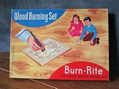 Wood burning set.