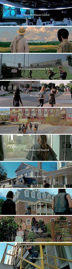 The Walking Dead Locations