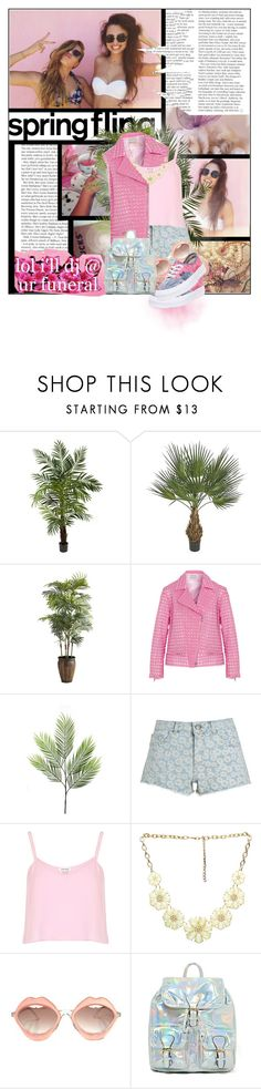 """""""Pastel is on"""" by l-kurdiovska ❤ liked on Polyvore featuring Milly, Nearly Natural, Pier 1 Imports, Richard Nicoll, Linea, Monsoon, River Island, Wet Seal, RETROSPECS and Vans"""