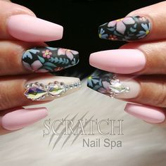 Nail Art From The NAILS Magazine Gallery Hand Painted Floral