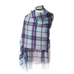 Stole 100% Lambswool. Keep the chill off with this luxurious soft and warm lambswool World Peace tartan Stole.  A wonderful gift and while supporting the World Peace Initiative.  www.scottishcreations.com