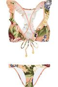 Zimmerman Elixir Floral Bikini -  It's interesting... Not sure about the print but in a solid color I'd wear it !