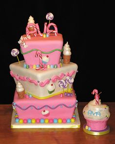 Candyland themed cake! A similiar design may be the one for Aryana's party! Cute