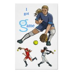 I Got Game girls women Softball Poster from I'm G Clothing