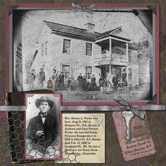 scrapbook+layouts+vintage   nice vintage look scrapbook layout   Genealogy & family crafts