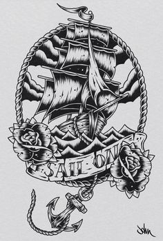 ship tattoo | sail on  Make money pinning! JOIN MY TEAM! Start here:  http://www.earnyouronlineincomefast.com