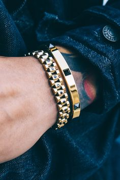 Every man needs to own these edgy bracelets by MISTER.