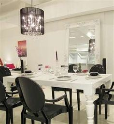 white table black chairs=great combo