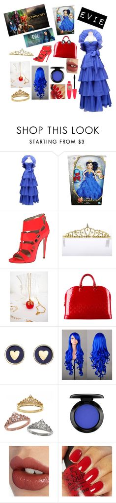 """Evie"" by enw71704 ❤ liked on Polyvore featuring Disney, Jean-Louis Scherrer, Ruthie Davis, Avon, Louis Vuitton, Brooks Brothers, Eternally Haute, MAC Cosmetics, Charlotte Tilbury and OPI"