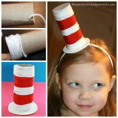Seuss Crafts for Kids 15 Dr. Seuss Crafts for Kids Dr. Seuss, Dr Seuss Hat, Dr Seuss Week, Arts And Crafts For Teens, Art And Craft Videos, Easy Arts And Crafts, Crafts For Kids, Kids Diy, Summer Crafts