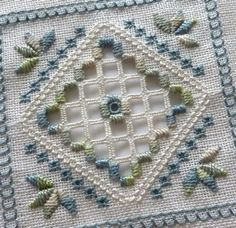 blue-green beginner hardanger