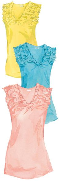 Jeunesse Tank Top - The J. Peterman Company (I love the pink one!)