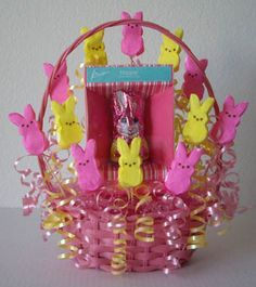 Cute Easter basket idea. Could also be a centerpiece.