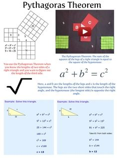 In mathematics, the Pythagorean theorem, also known as Pythagoras' theorem, is a fundamental relation in Euclidean geometry among the three sides of a right triangle. #glogster #glogpedia #pythagorastheorem