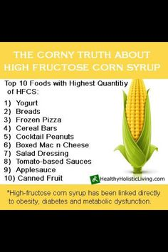 High Fructose Corn Syrup - Most common foods that contain