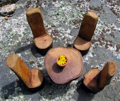 Fairy garden furniture Garden furniture and Table and chairs on