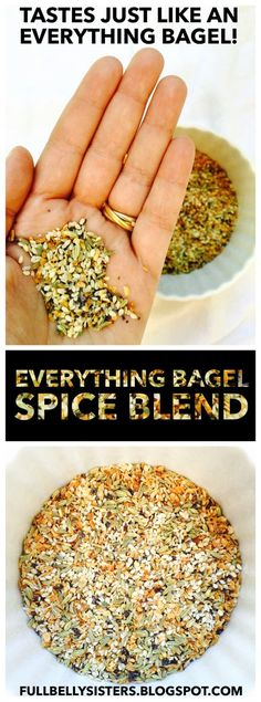 This spice mix tastes just like an everything bagel! I love it in dips or on baked potatoes even in burgers. This spice mix tastes just like an everything bagel! I love it in dips or on baked potatoes even in burgers. New Recipes, Cooking Recipes, Favorite Recipes, Healthy Recipes, Smoker Recipes, Milk Recipes, Cooking Tips, Homemade Spices, Homemade Seasonings