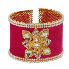 Dark Pink Alloy Austrian Diamonds Bangle 65964