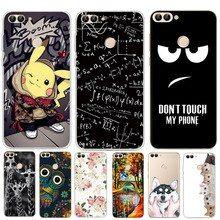 nuovo di zecca e4160 94895 For Funda Huawei P Smart Case Silicone Cute Owl Cartoon Soft ...