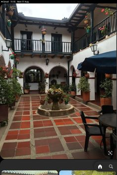 Hacienda Style Homes, Mediterranean Style Homes, Spanish Style Homes, Mediterranean Architecture, Spanish House Design, Spanish Colonial, Spanish Revival, Colonial Architecture, Courtyard House Plans