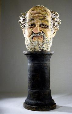 Nasal Flat, 1981. Ceramic, glazed; head: 118 x 71 x 52 cm (46 1/2 x 28 x 20 1/2). Photo courtesy of the artist. © Estate of Robert Arneson / Licensed by VAGA. (8S-27694arvg)