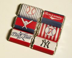 Baseball Party Printable Mini Candy Bar Personalized Wrappers from When I Was Your Age Bar Mitzvah Decorations, Bar Mitzvah Themes, Baseball Birthday Party, 2nd Birthday, Birthday Ideas, Birthday Parties, Save The Date, Giveaways, Little Presents
