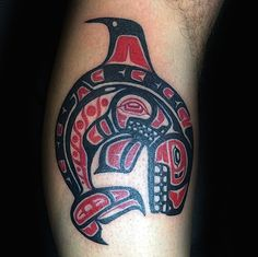Sharp Beaked Haida Bird Tattoo