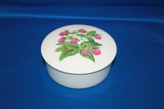 Vintage Hand Painted Porcelaine de Paris Limoges France Raspberry Trinket Box with Lid by KattsCurioCabinet on Etsy