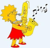 Lisa Simpson - the famous sax player