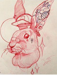 Tattoo Design Drawings, Tattoo Sketches, Art Sketches, Art Drawings, Chicano Drawings, Family Tattoo Designs, Graffiti Lettering Fonts, Rabbit Tattoos, Graffiti Drawing