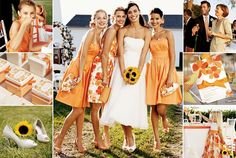Orange and sunflower wedding
