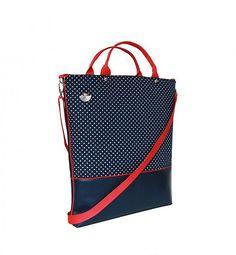 * kabelka / taška * * materiál: koženka, bavlna * * farba: tmavo modrá / čierna, šedá * * lem: paspule * * popruh: nastaviteľný a odopínateľný * * zapínanie ...