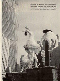 1941 Ballet Ballerina Rooster Rockefeller Center Original Print Ad