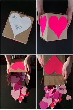 heart attack. write something you love about your valentine on each heart.