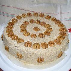 Diótorta (régi recept) Recept képpel - Mindmegette.hu - Receptek Hungarian Desserts, Hungarian Cuisine, Hungarian Recipes, No Bake Cookies, Cake Cookies, No Bake Cake, Cake Recipes, Dessert Recipes, Torte Cake