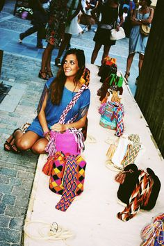 Want a #unique #accessory that helps local families and the environment?   Then #Wayuu #bags are for you! More at http://www.clubfashionista.com/2013/07/fashion-summer-trends-wayuu-bags.html #susuu #purses #backpacks #handmade #paulinafornovi