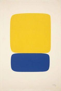 "topcat77: "" Ellsworth Kelly 'Yellow over Dark Blue', 1964-1965 """