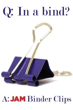 Binder Clips are the number one solution for keeping it together. But with JAM® Binder Clips, your favorite color can still be present. Shop now!