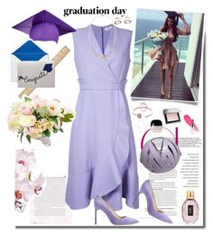 """""""Congrats, Grad: Graduation Dress Style"""" by ellie366 ❤ liked on Polyvore featuring Carven, Manolo Blahnik, Michael Kors, Perrin, Burberry, Lancôme, Marc Jacobs, Yves Saint Laurent, GetTheLook and Graduation"""