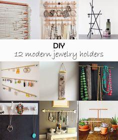 Ohoh Blog - Modern jewelry holders , diy jewelry display