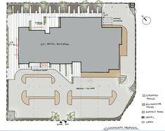 Landscape design for a retail development