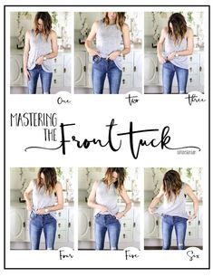 The front tuck... We needed this! #youngandfreeapparel