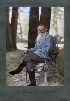 Sergey Prokudin-Gorsky. Portrait of Lev Tolstoy 23rd of May 1908
