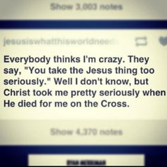 LOVE!!!!!!!!!!!  I'm a Jesus freak and I'm not afraid to show it!